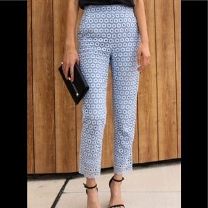 J.Crew eyelet lace trousers